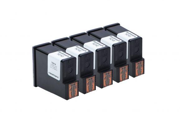 Five Redimark T801K XL production size ink cartridges