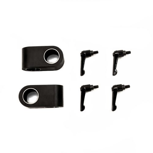 Image of two cross clamps and four screws and wing nuts.