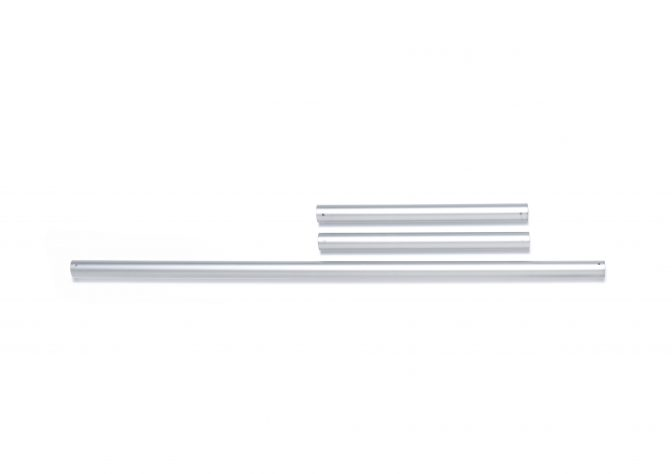 "One 30"" aluminum tube and two 12"" aluminum tubes"