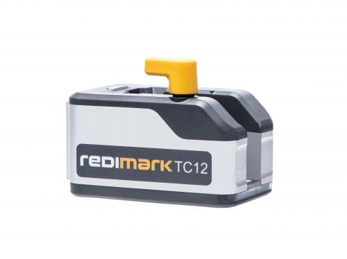 Redimark print head assembly on white background