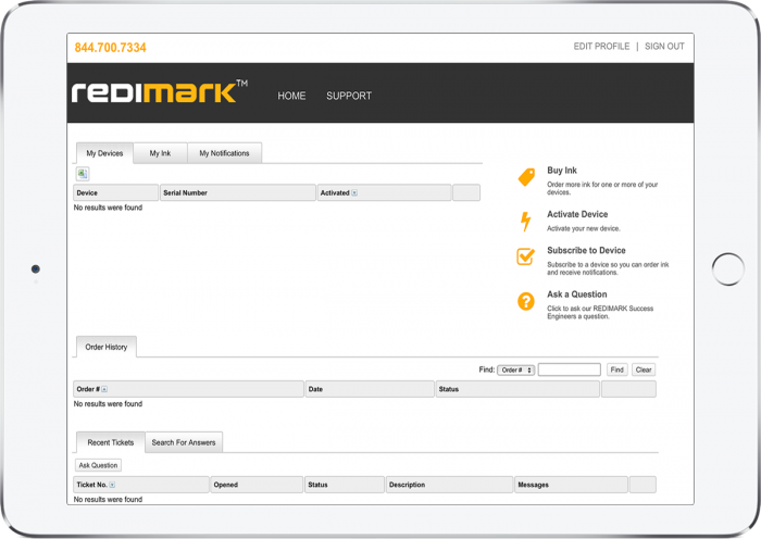 Your Redimark Account