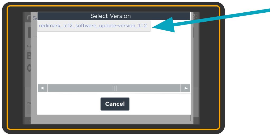 Zip file selection on Redimark TC12 touchscreen