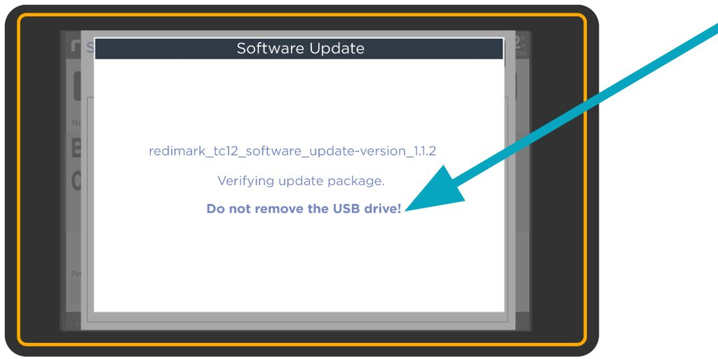 Do not remove USB message screen on Redimark TC12 touchscreen