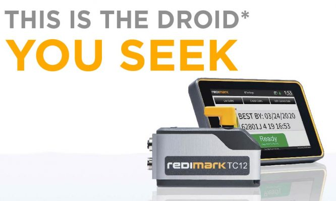 This is the Droid You Seek Redimark TC12 Inkjet Date Coder Banner