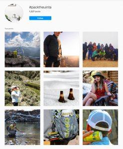 #packtheuinta Instagram